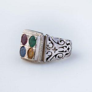 انگشتر چند جواهر ملاباشی