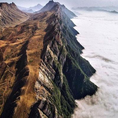 اقیانوس ابر اوپرت مرزی در میان دو استان سمنان و مازندران
