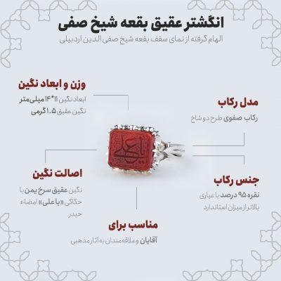 اینفوگرافی انگشتر عقیق بقعه شیخ صفی