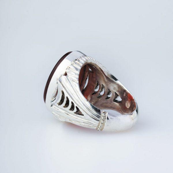 رکاب دستساز نقره، مدل شیرازی با طرح هلالی (هنر استاد میرزایی)