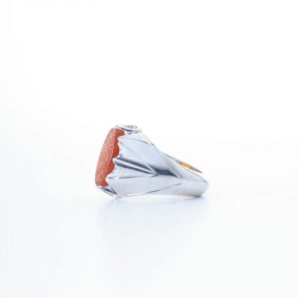 رکاب دستساز نقره، مدل فیلی با طرح دور اشک (هنر استاد میرزایی)