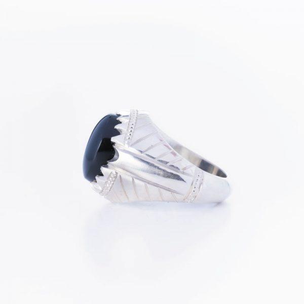 رکاب دستساز نقره، مدل فیلی با طرح شیاری (هنر استاد میرزایی)