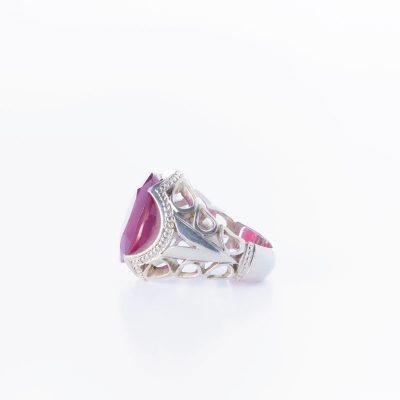 رکاب دستساز نقره، مدل فیلی با طرح شبکه (هنر استاد میرزایی)