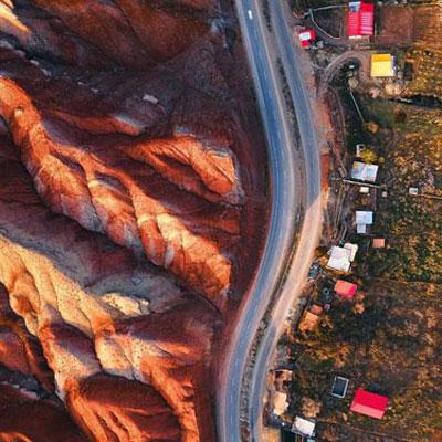 کوههای رنگی یا تپههای مریخی، کوههایی هزار رنگ در میان دشتهای کویری روستای پاده استان سمنان است.