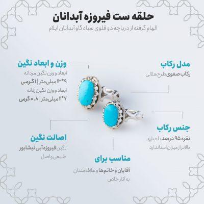اینفوگرافی حلقه ست فیروزه آبدانان